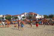Beachvolleyball tunier action spanien
