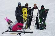 Hasi beim skilaufen