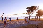 Beachvolleyball-action-strand-kroatien