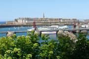 Hafenstadt saint malo ausblick